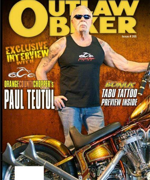 Outlaw Biker Magazine Issue 209 Tattoo Media Ink