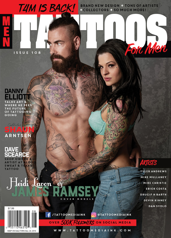 Tattoos For Men Magazine Issue #108 - Tattoo Media Ink | Publishers ...